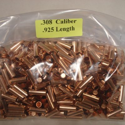 .308 x .925 Copper Bullet Swaging Jackets