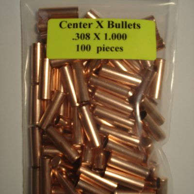 .308 x 1.000 Copper Bullet Swaging Jackets
