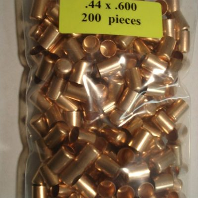 .44 x .600 Copper Bullet Jackets – Center Bullets
