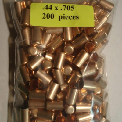 .44 x .705 Copper Bullet Swaging Jackets