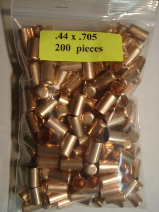 .44 x .705 Copper Bullet Swaging Jackets