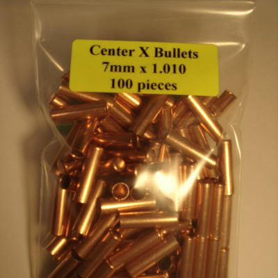 7mm x 1.010 Copper Bullet Swaging Jackets – Center x Bullets
